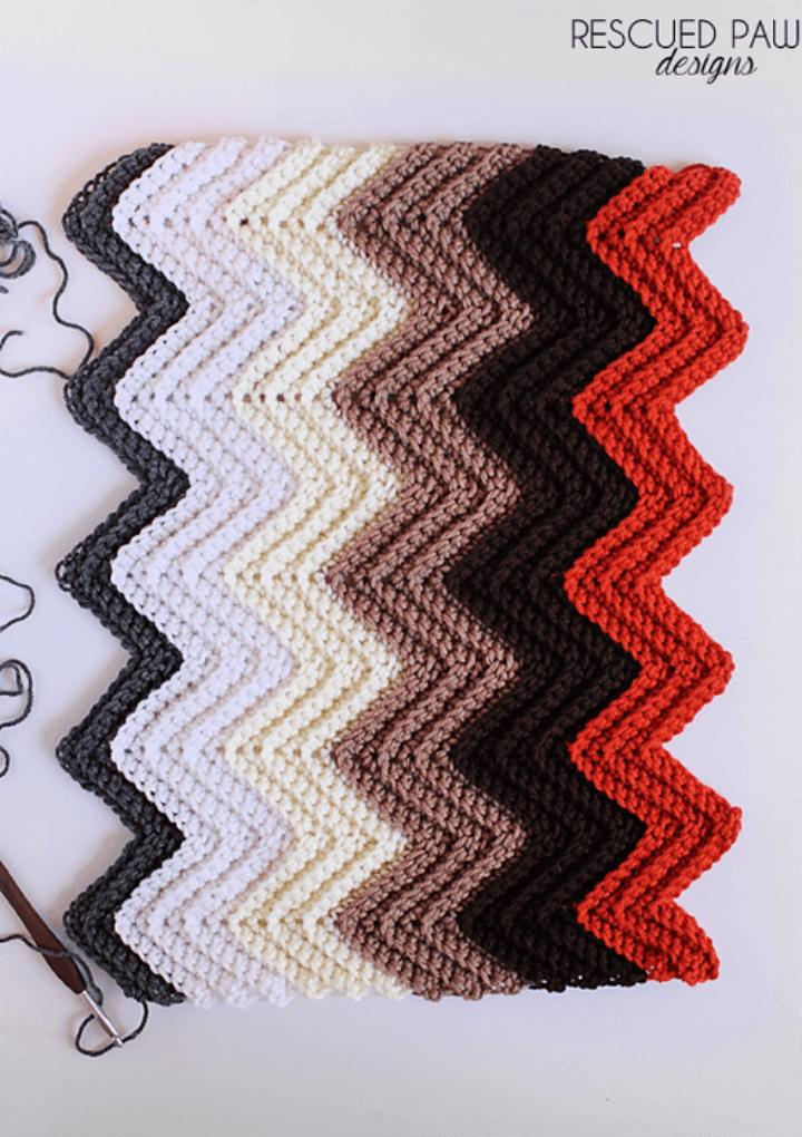 Easy Crochet Chevron Pattern Blanket