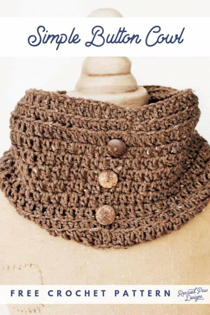 Easy Crochet Cowl Scarf Pattern