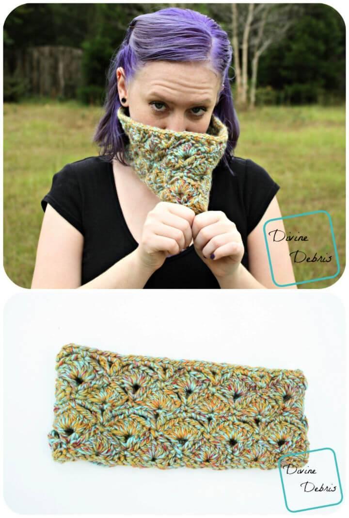 Easy Crochet Janice Cowl Pattern