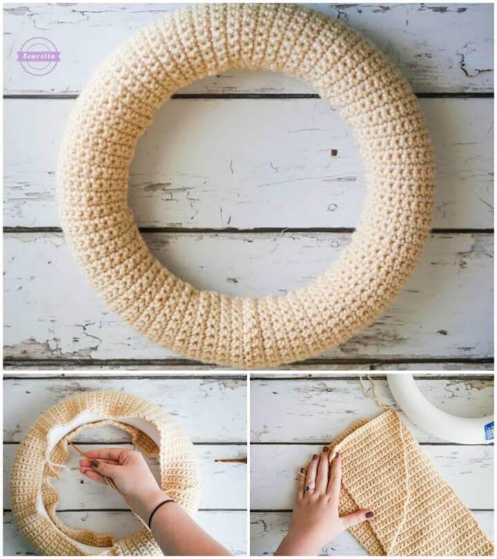 Easy Crochet Wreath Base Free Pattern