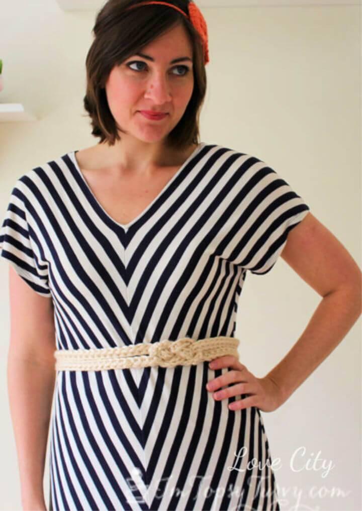 Easy Crochet sailor's Knot Belt Free Pattern