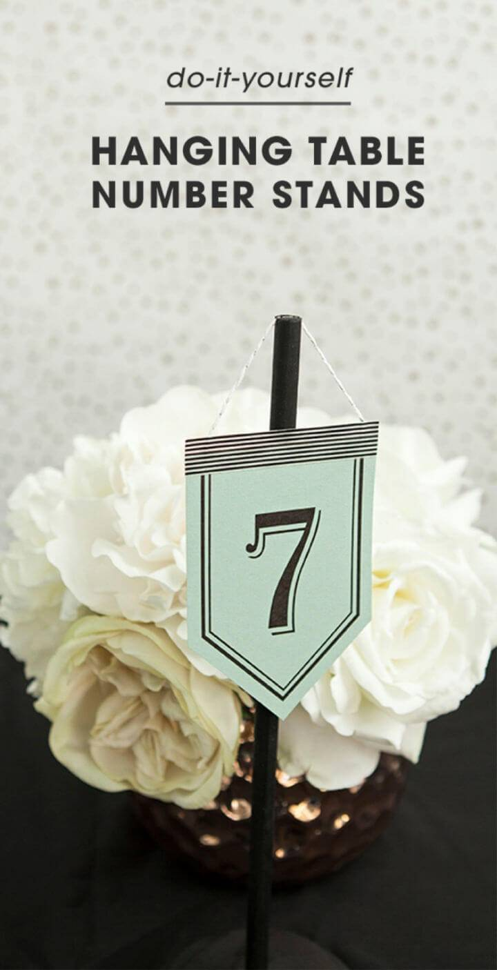 Easy DIY Hanging Table Number Stands