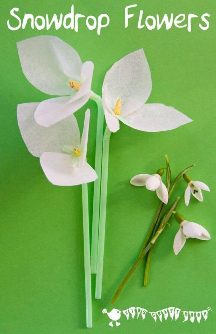 Easy DIY Snowdrop Tissue Paper Flowers