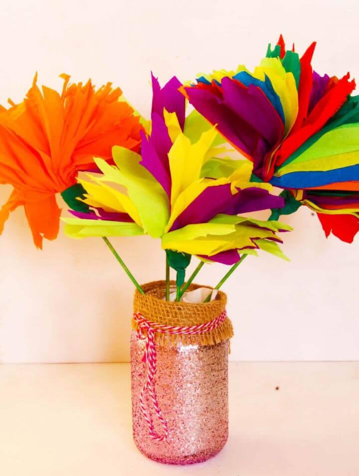 Easy DIY Tissue Paper Flowers