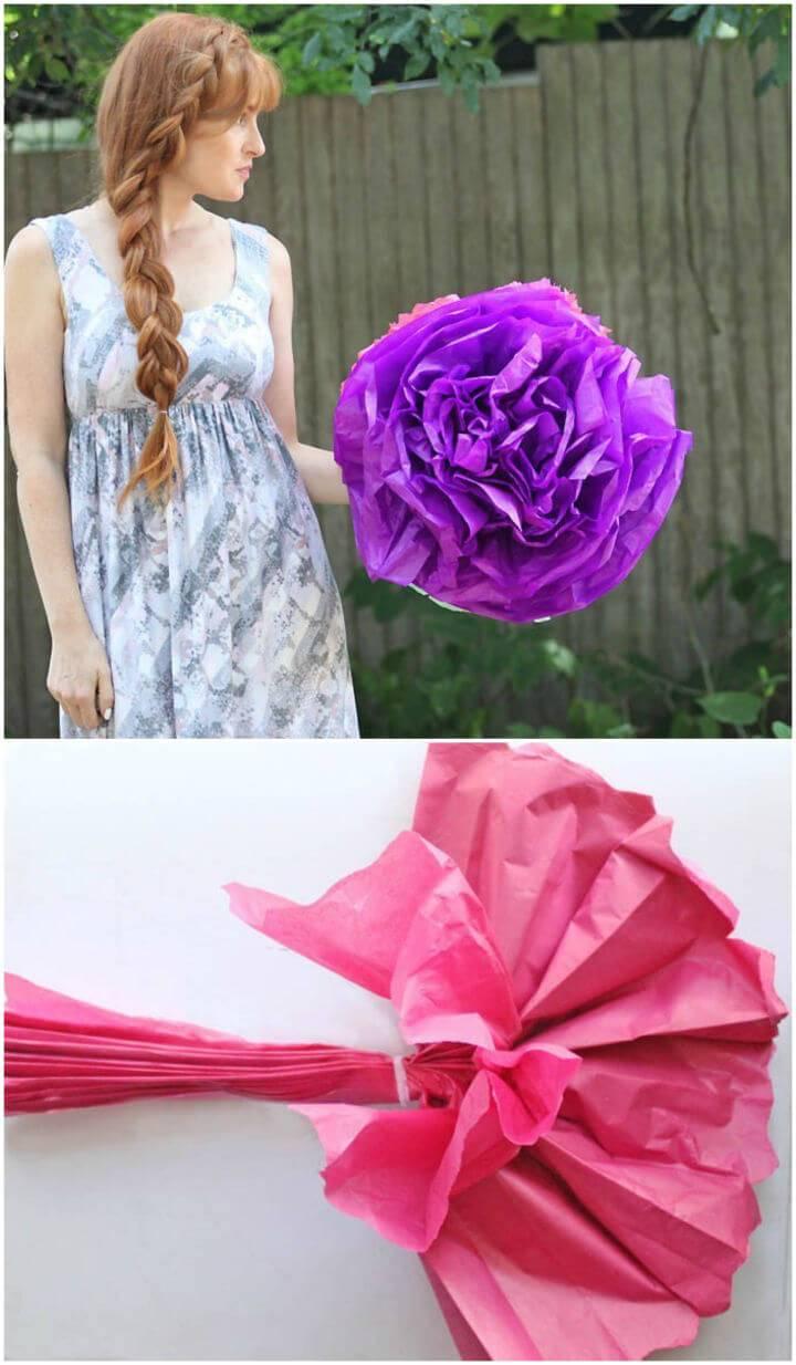Easy to Make Giant Tissue Paper Flowers