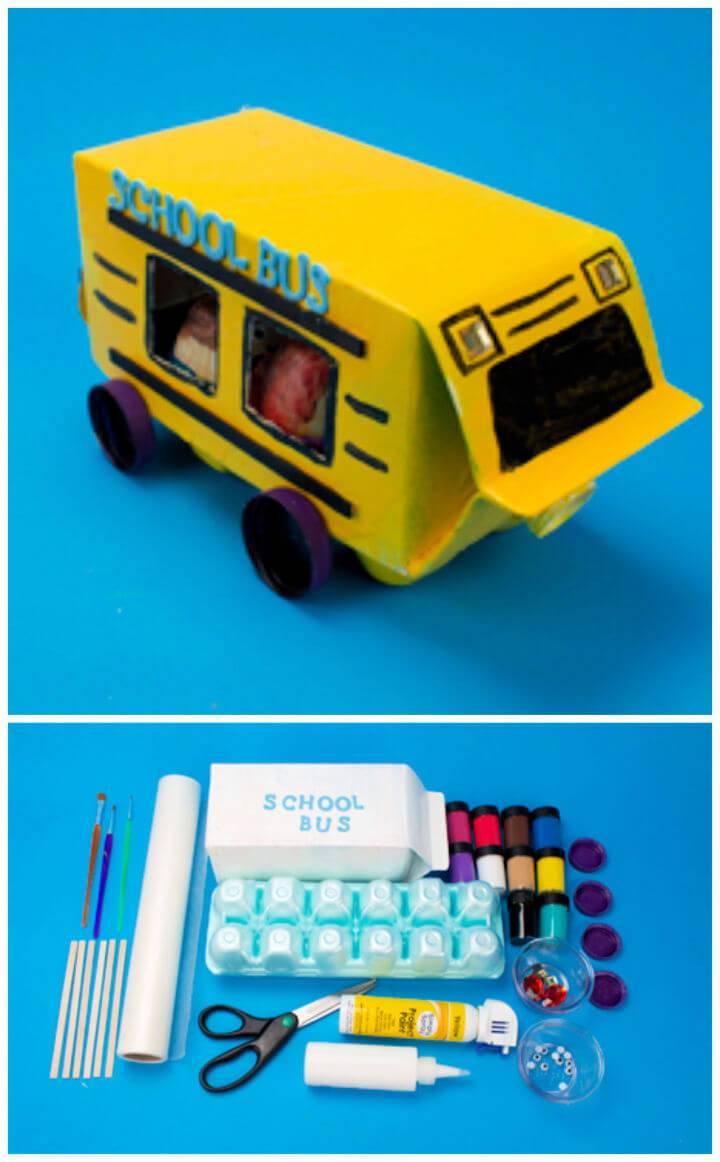 Easy to Make Milk Carton Bus