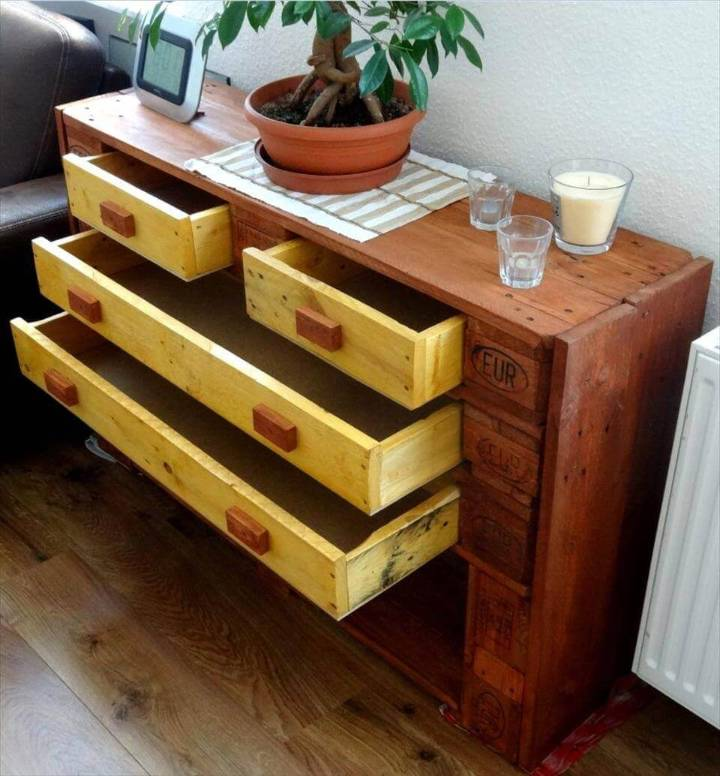 Euro Pallet Dresser Chest of Drawers