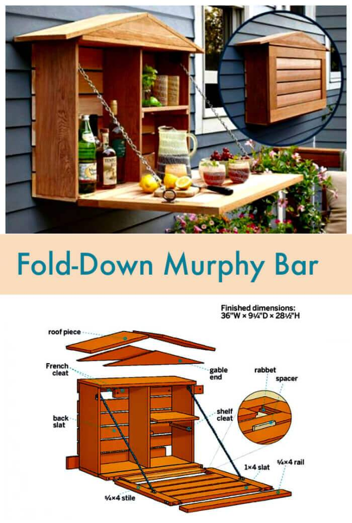 Fold-Down Murphy Bar Made of Pallets