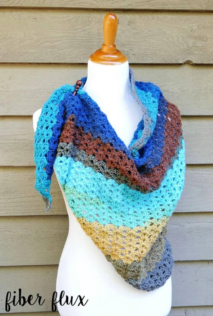Free Crochet Autumn Skies Shawl Pattern