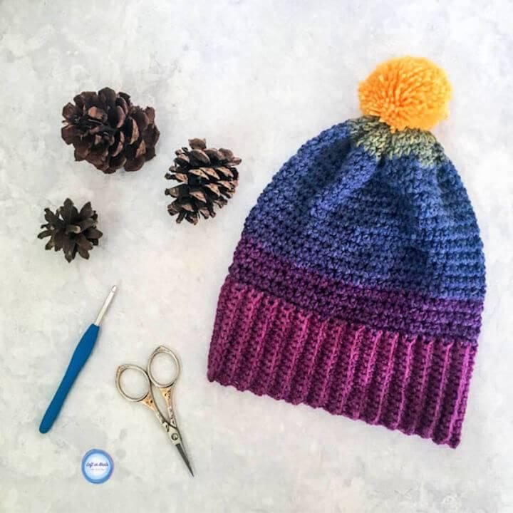 Free Crochet Chroma Hat Pattern Using Mandala Yarn