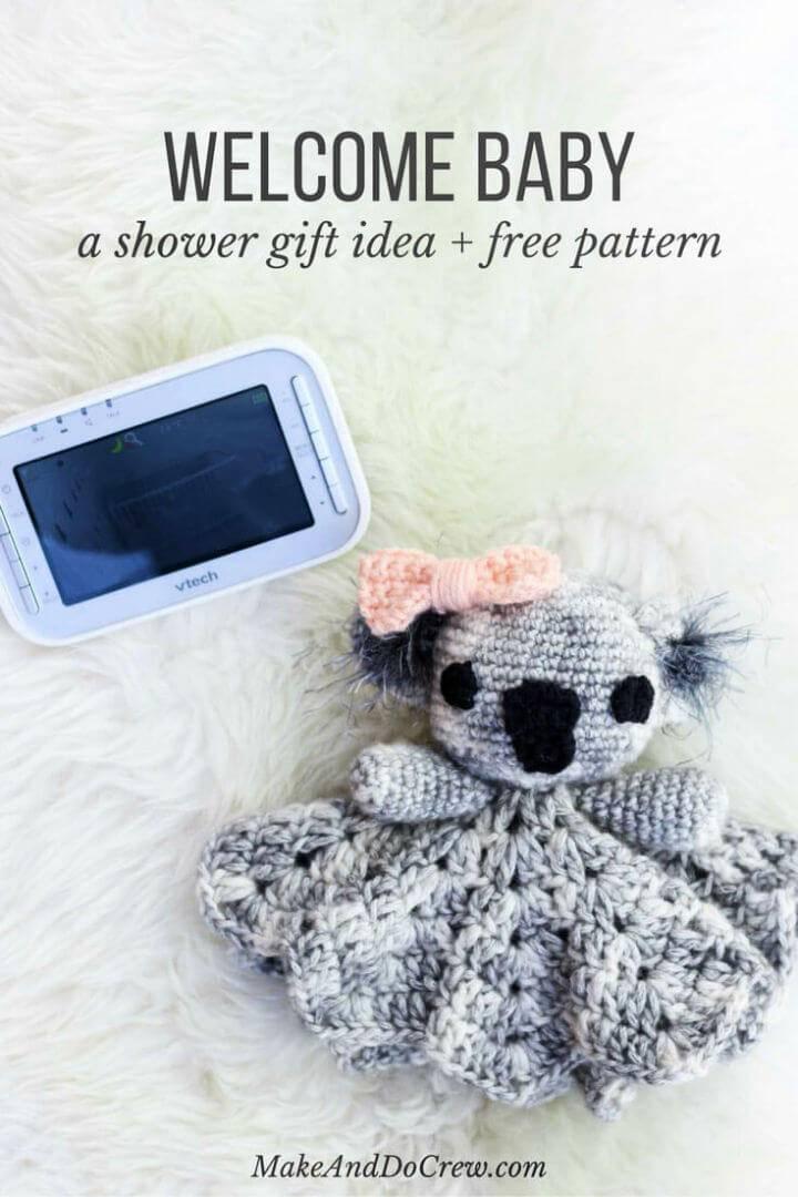 Free Crochet Cuddly Koala Lovey Pattern