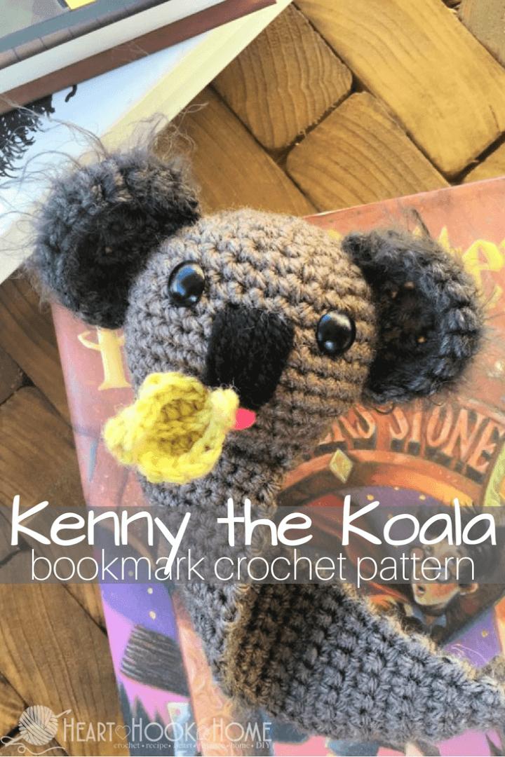 Free Crochet Koala Bookmark Amigurumi Pattern 1