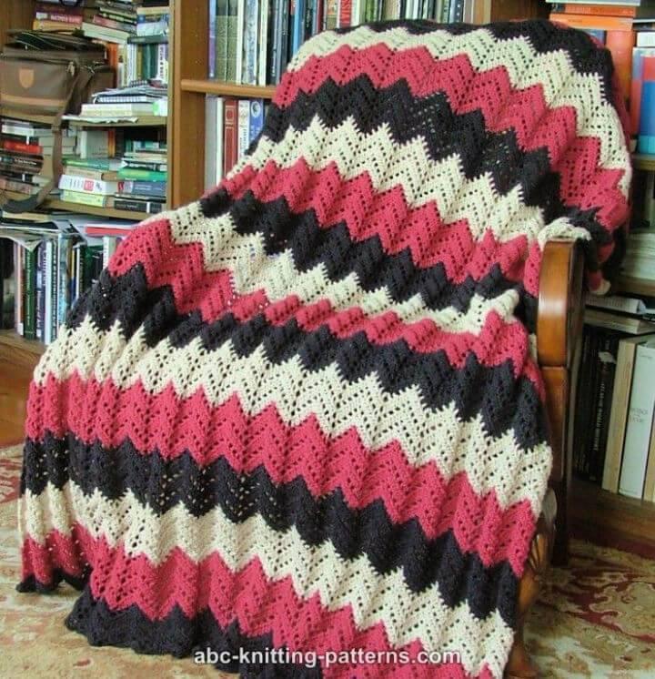 Free Crochet Lace Ripple Afghan Pattern