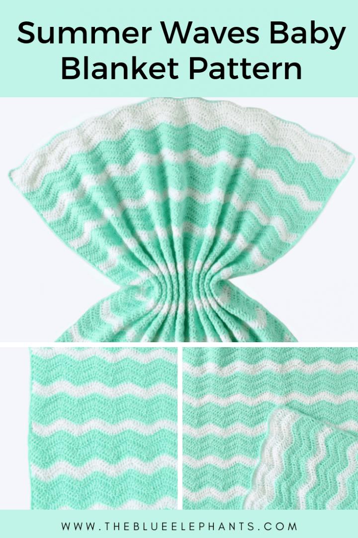 Free Crochet Lightweight Ripple Afghan Pattern