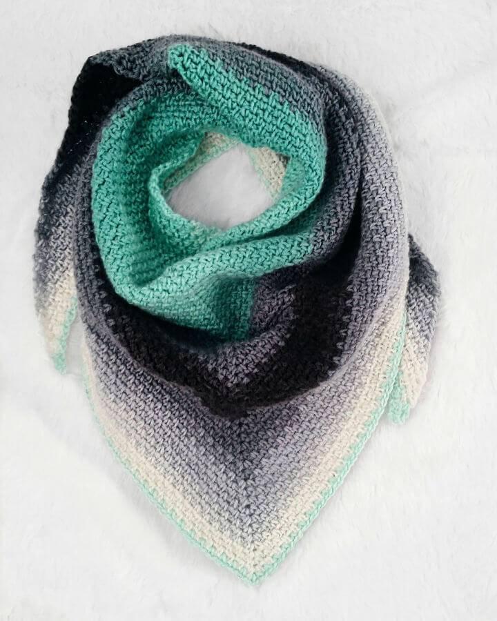 Free Crochet Madeline Triangle Scarf Pattern
