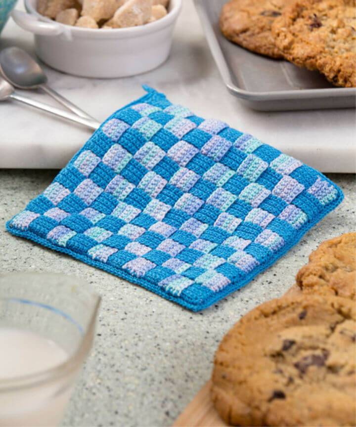 Free Crochet Milk and Cookies Hot Pad Pattern