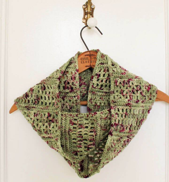 Free Crochet Spring Sampler Infinity Scarf Pattern