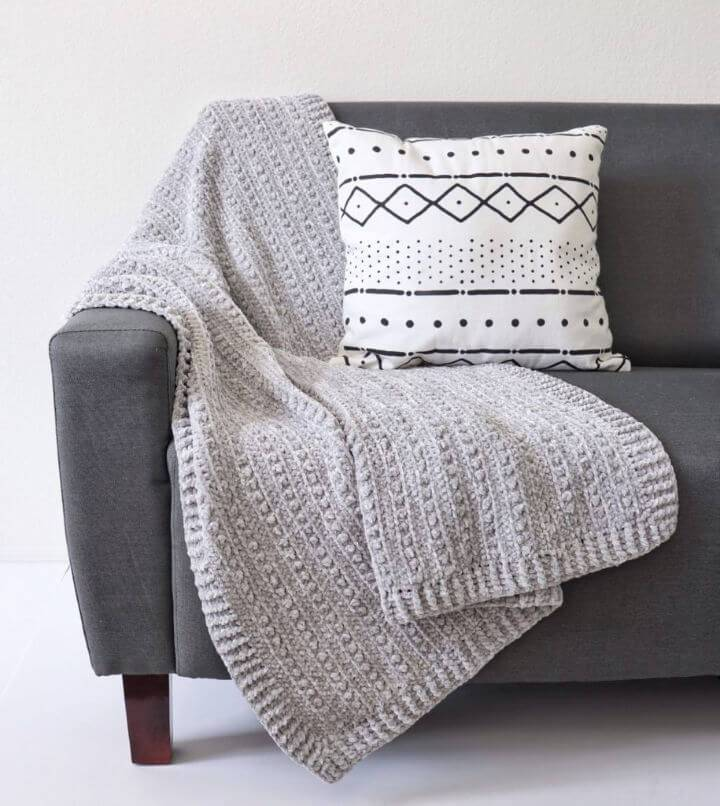 Free Crochet Velvet Berries Throw Pattern