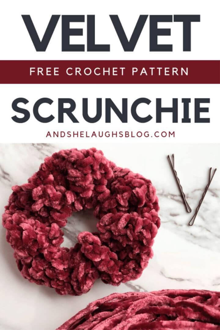 Free Crochet Velvet Scrunchie Pattern