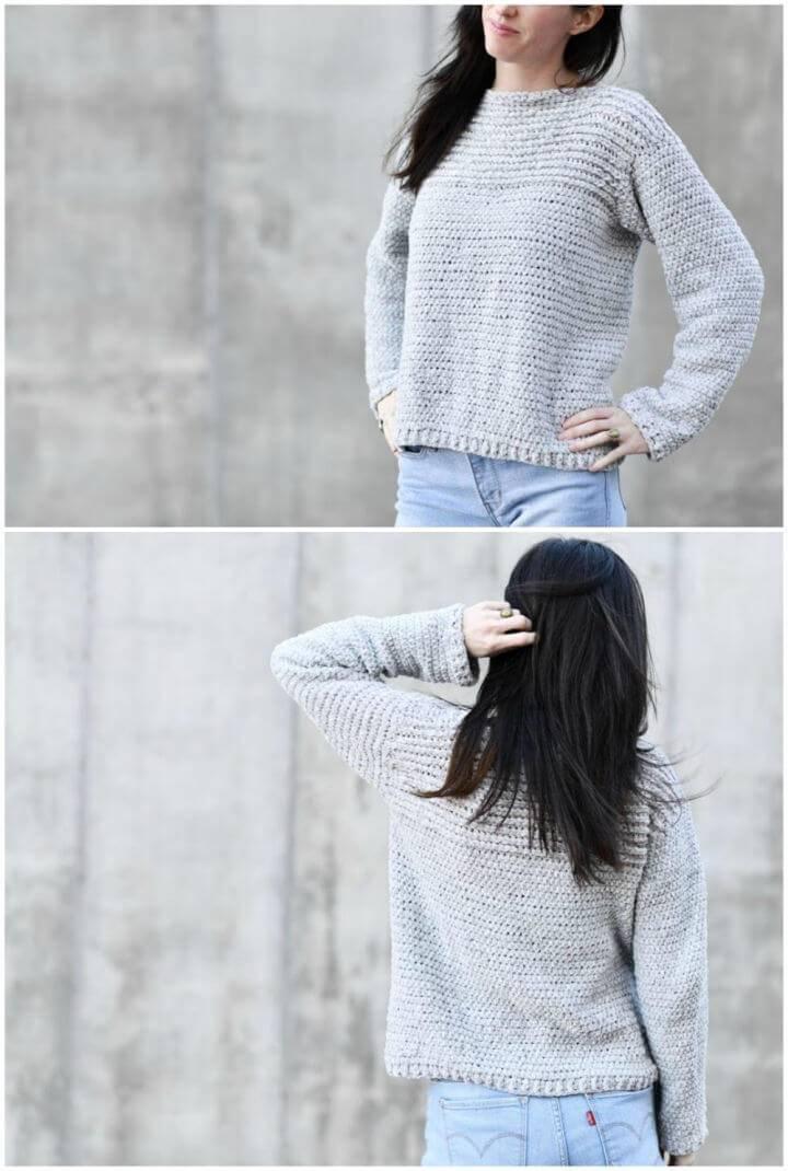 Free Crochet Velvety Pullover Pattern