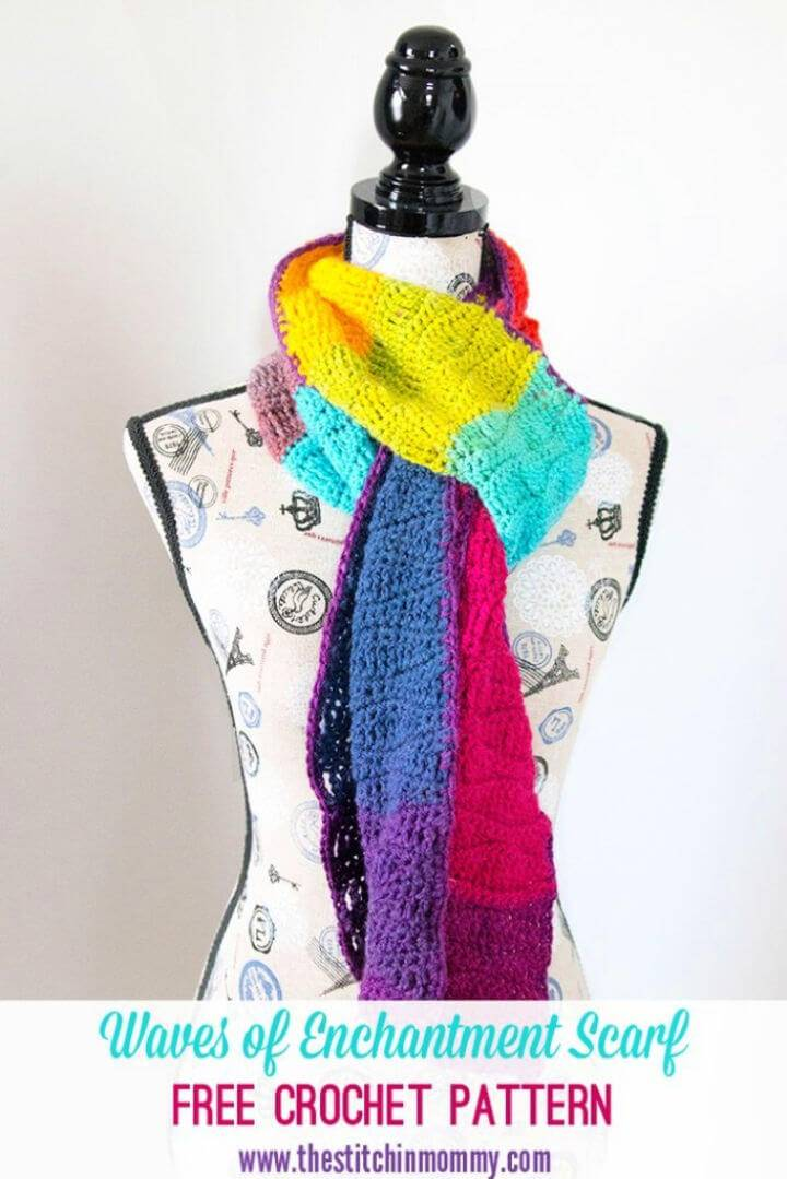 Free Crochet Waves Of Enchantment Scarf Pattern