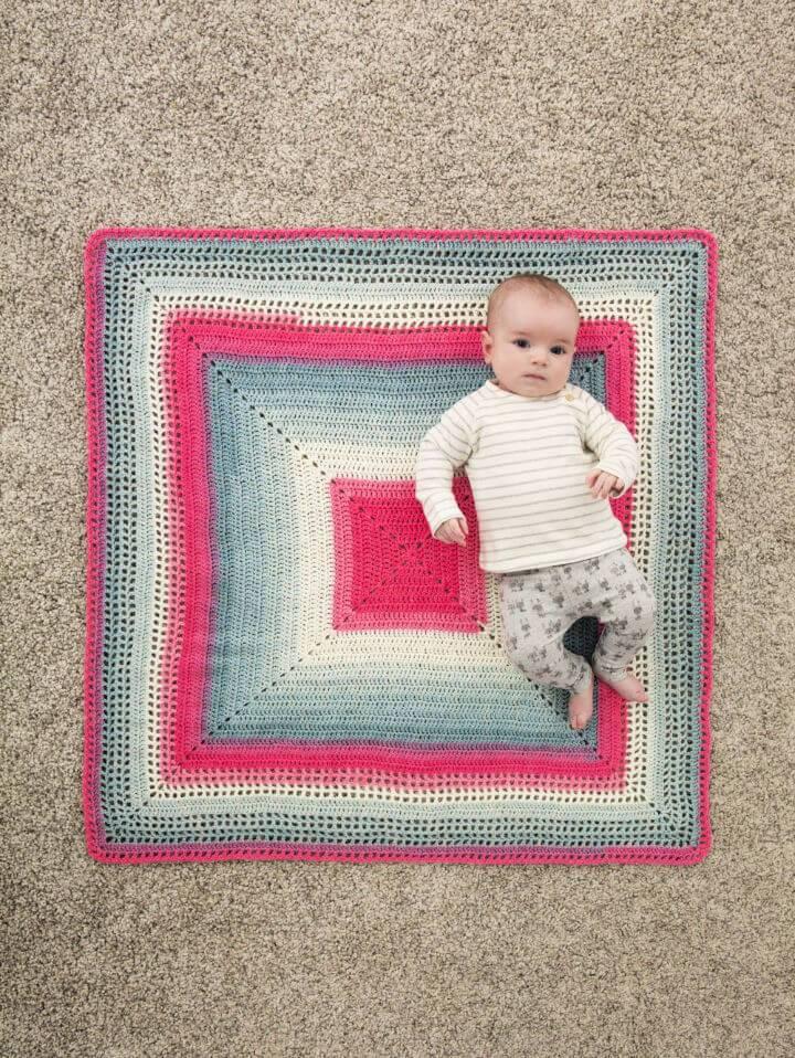 Free Crochet Whitby Baby Blanket Pattern