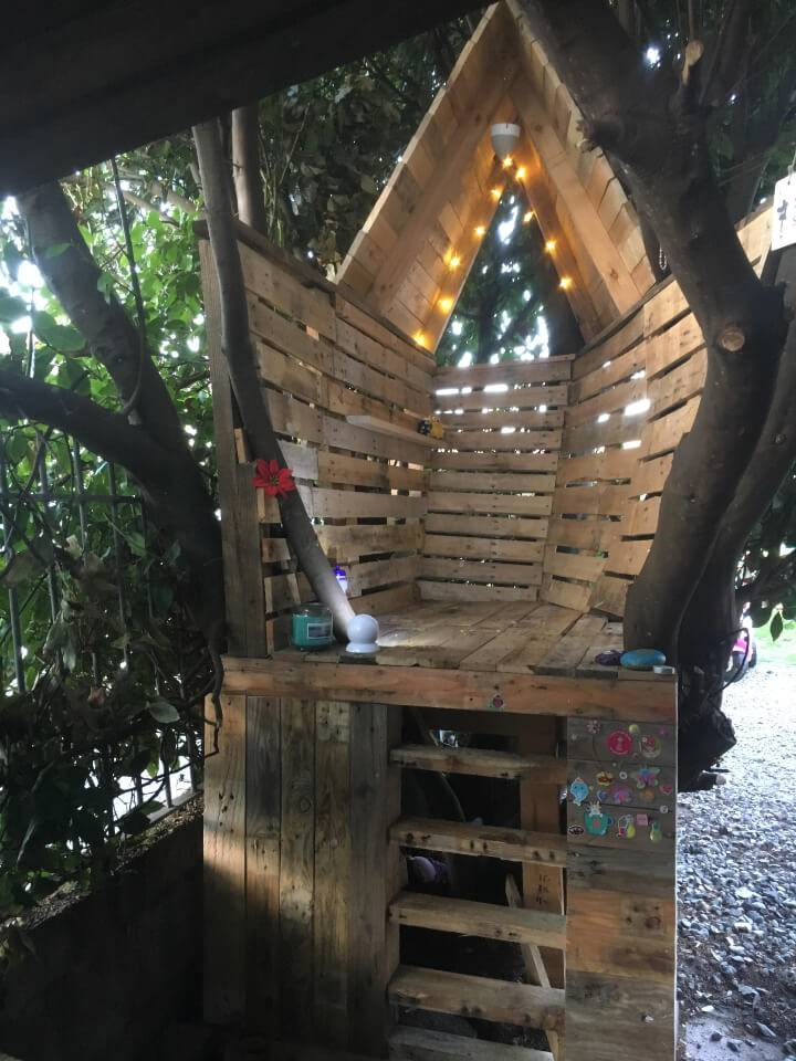 Free Pallet Treehouse