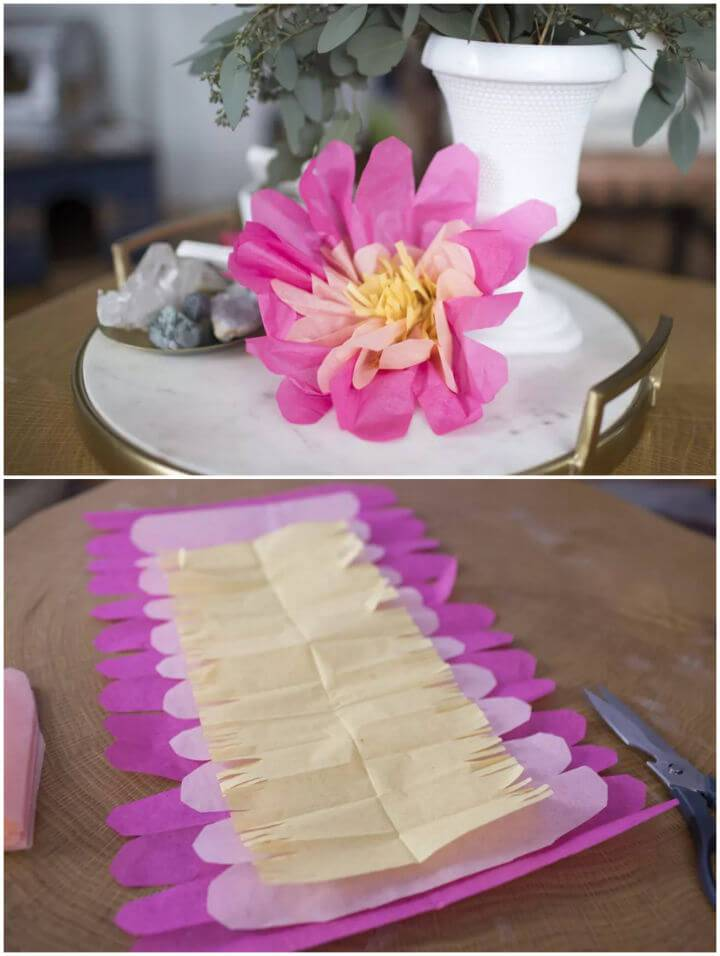 Gorgeous DIY Tissue Paper Flowers