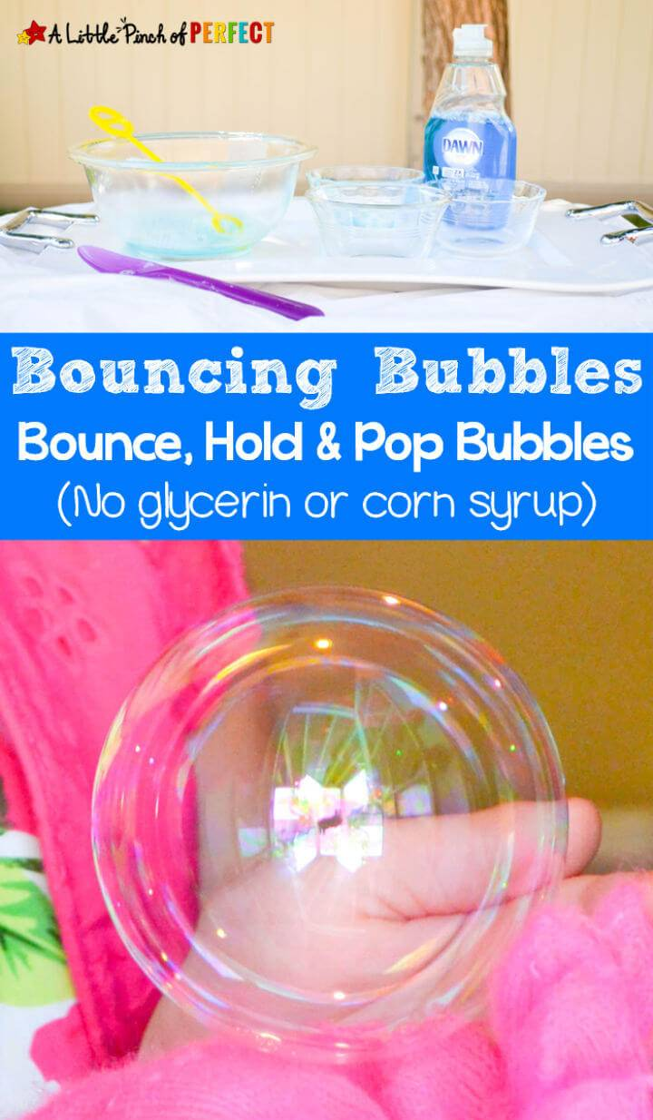 Homemade Bouncing Bubbles Recipe