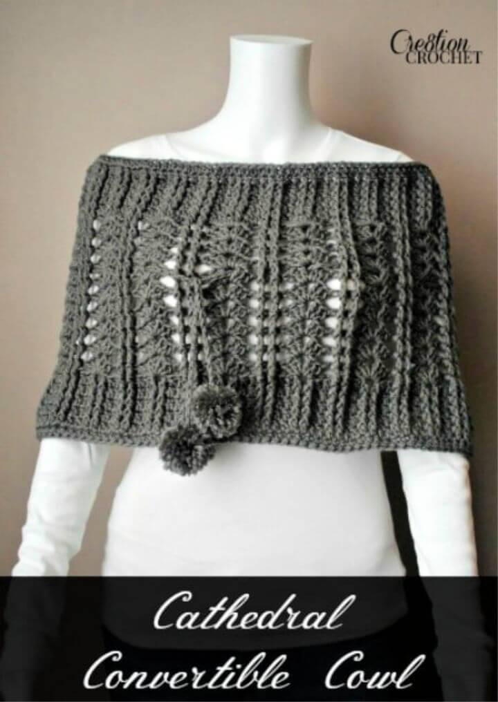 How to Crochet Cathedral Convertible Cowl