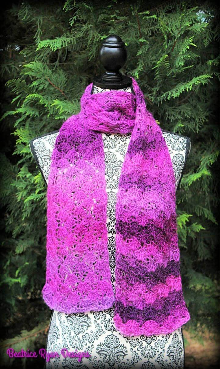 How to Crochet Cherished Moments Scarf Pattern