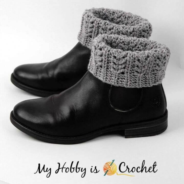 How to Crochet Chic Aran Boot Cuffs