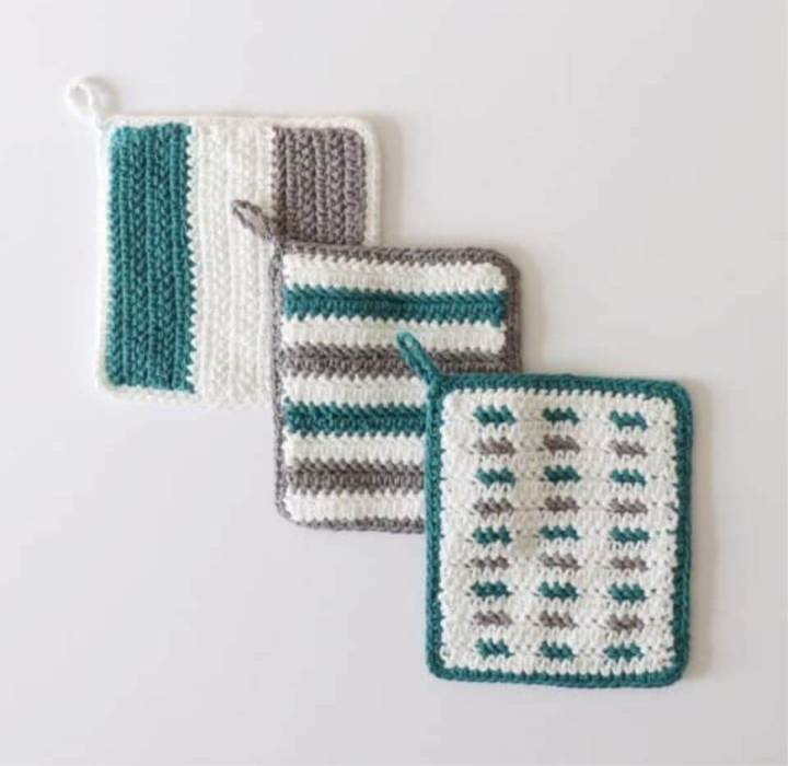 How to Crochet Herringbone Hot Pads