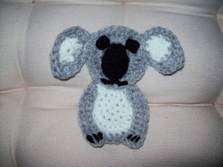 How to Crochet Koala Applique 1