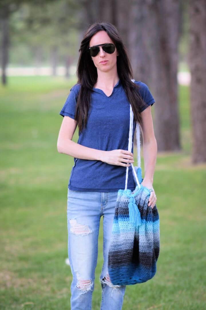 How to Crochet Mandala Blanket Bag