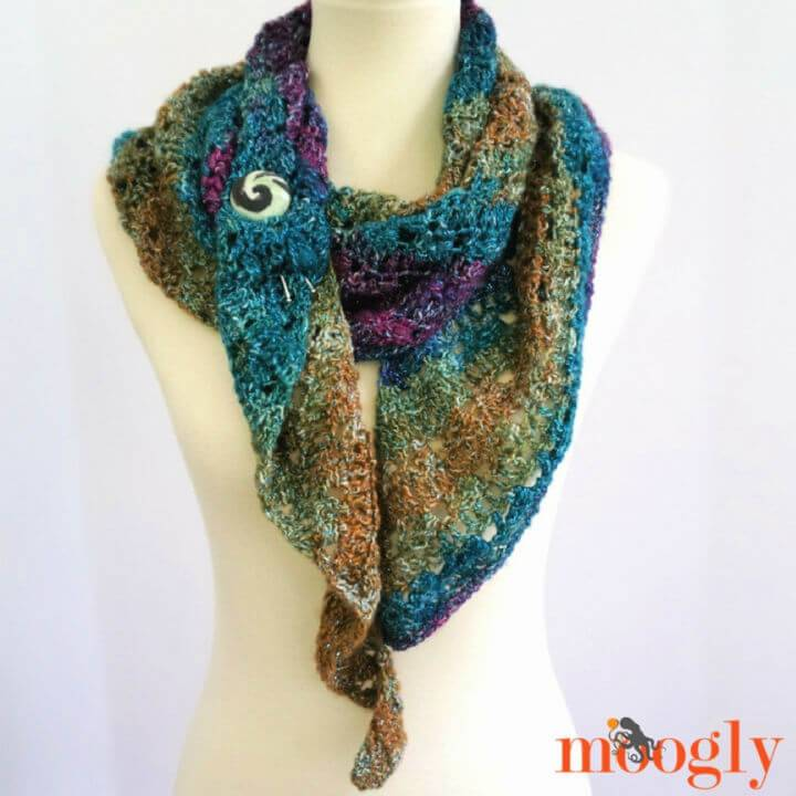 How to Crochet One Skein Tango Shawl