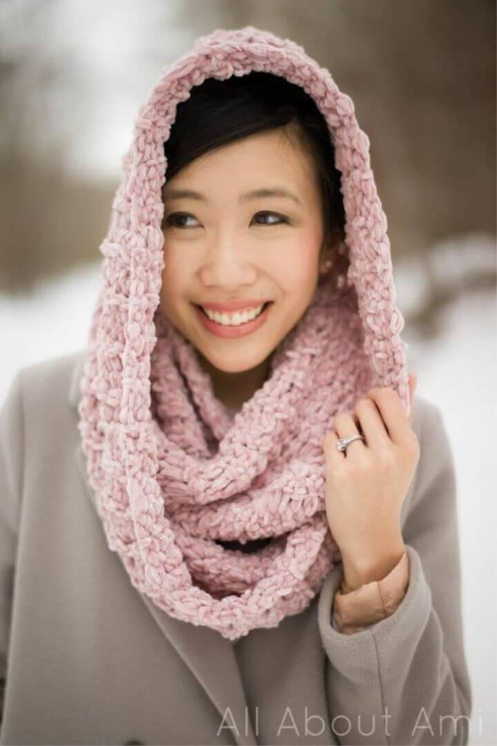 How to Crochet Velvet Ribbed Cowl
