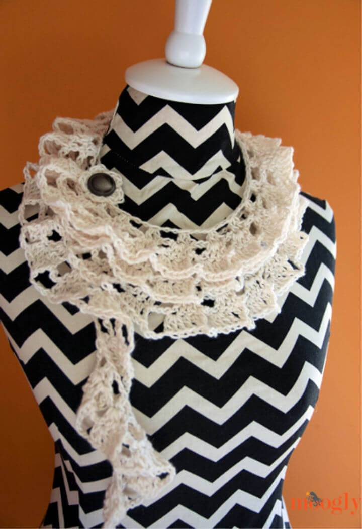 How to Crochet tallulah Waterfall Scarf Pattern
