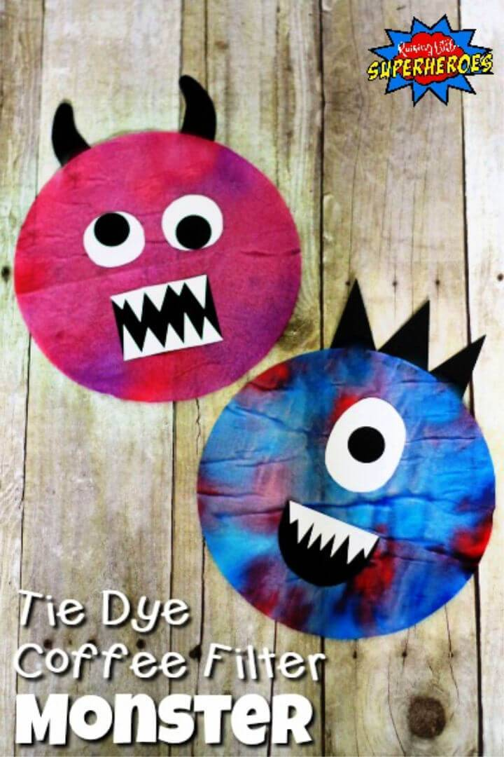 How to Make a Tie Dye Coffee Filter Monster