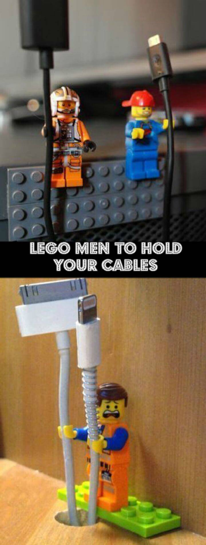 Lego men to hold your cables