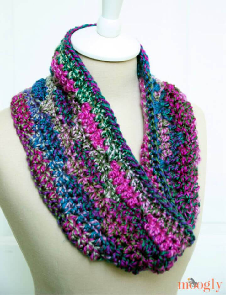 Luscious One Skein Cowl Free Crochet Pattern