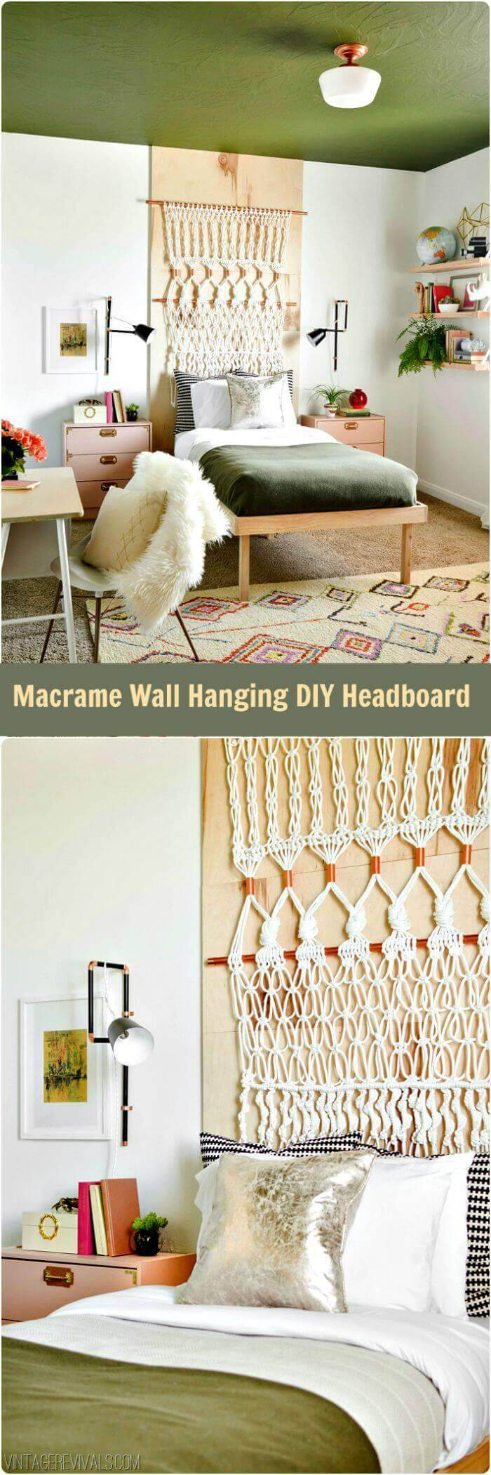Macrame Wall Hanging DIY Headboard