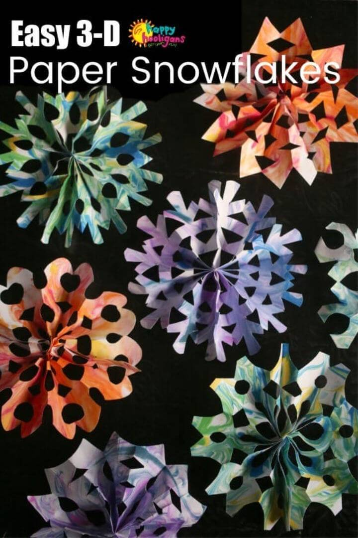 Make 3D Snowflakes for Kids