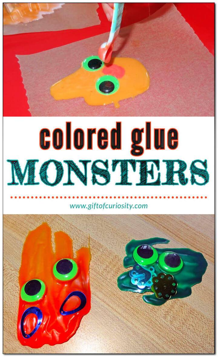 Make Glue Monsters With The Kids