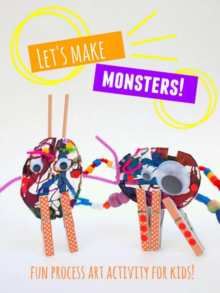 Make Monster Sculptures with Kids