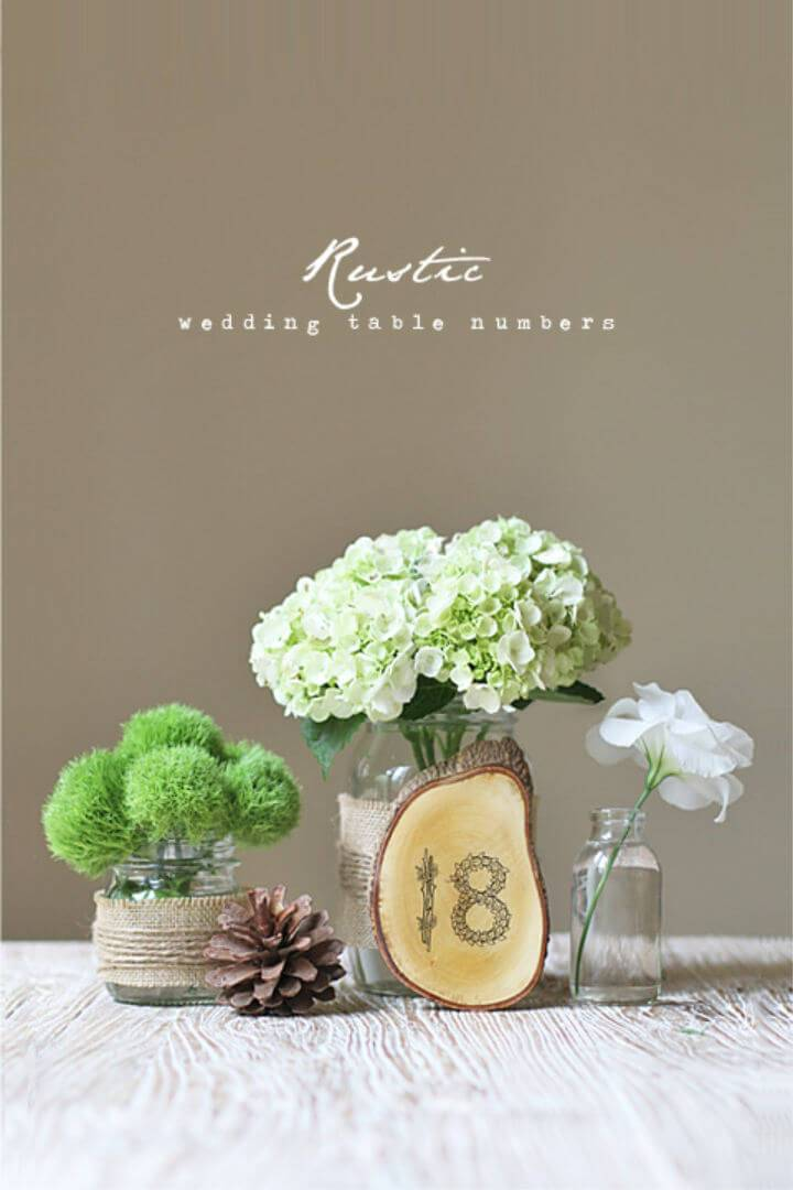 Make Rustic Wedding Table Numbers