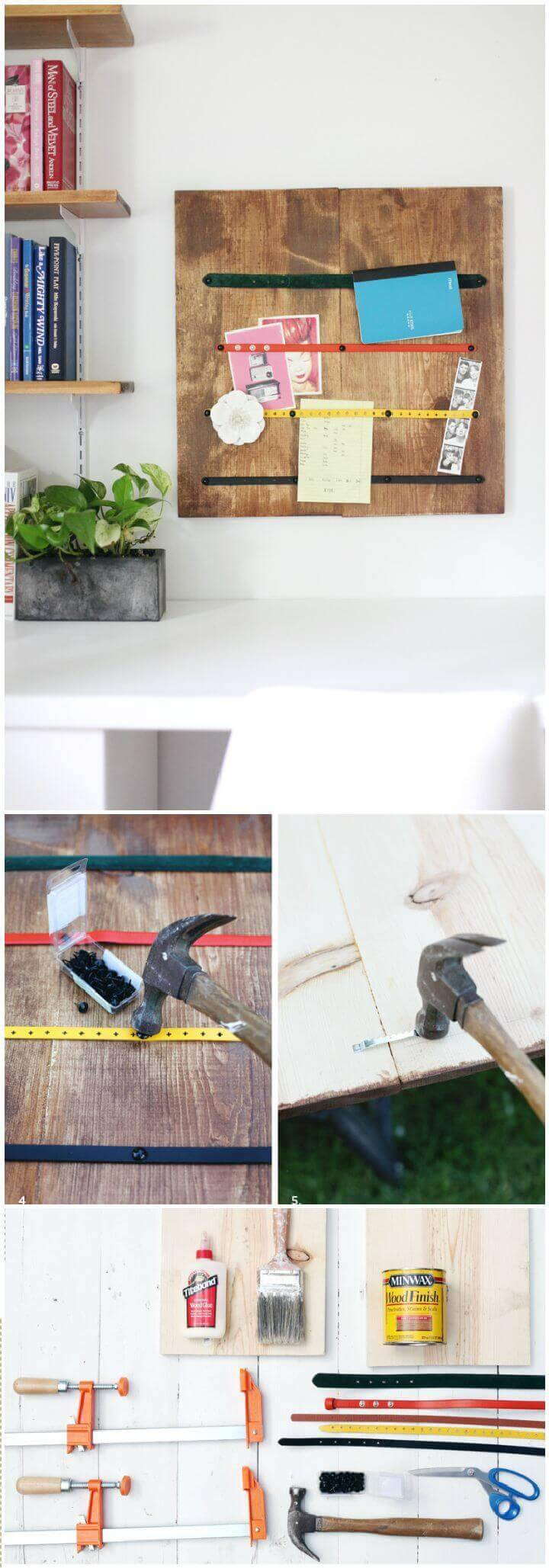 Make This Belt Strap Memo Board DIY