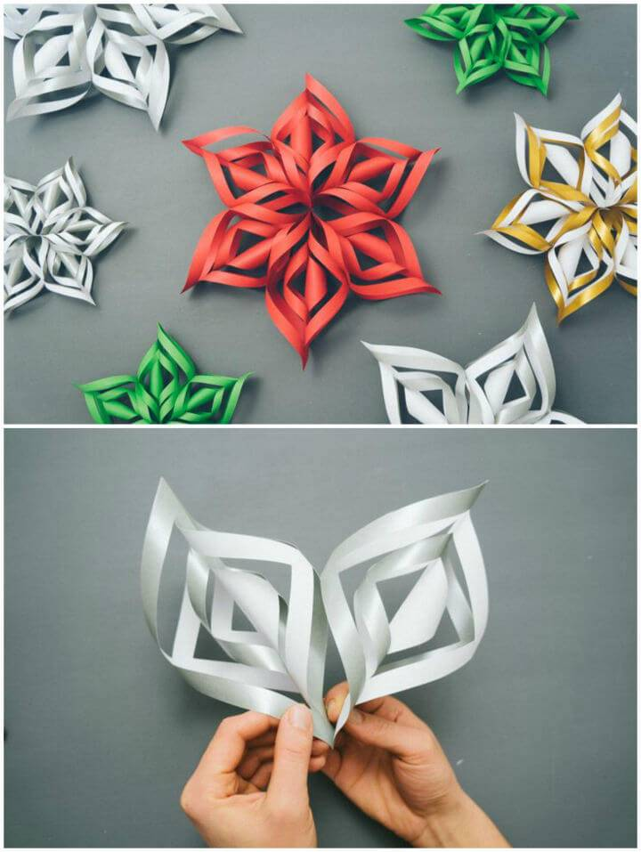 Make Your Own 3D Paper Snowflake