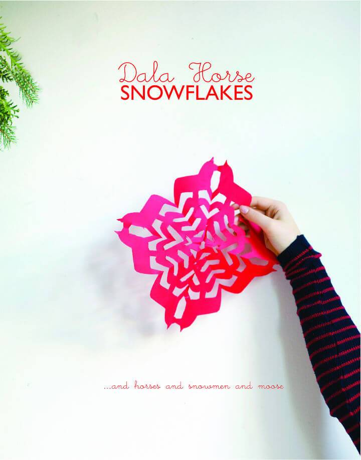 Make Your Own Dala Horse Snowflakes