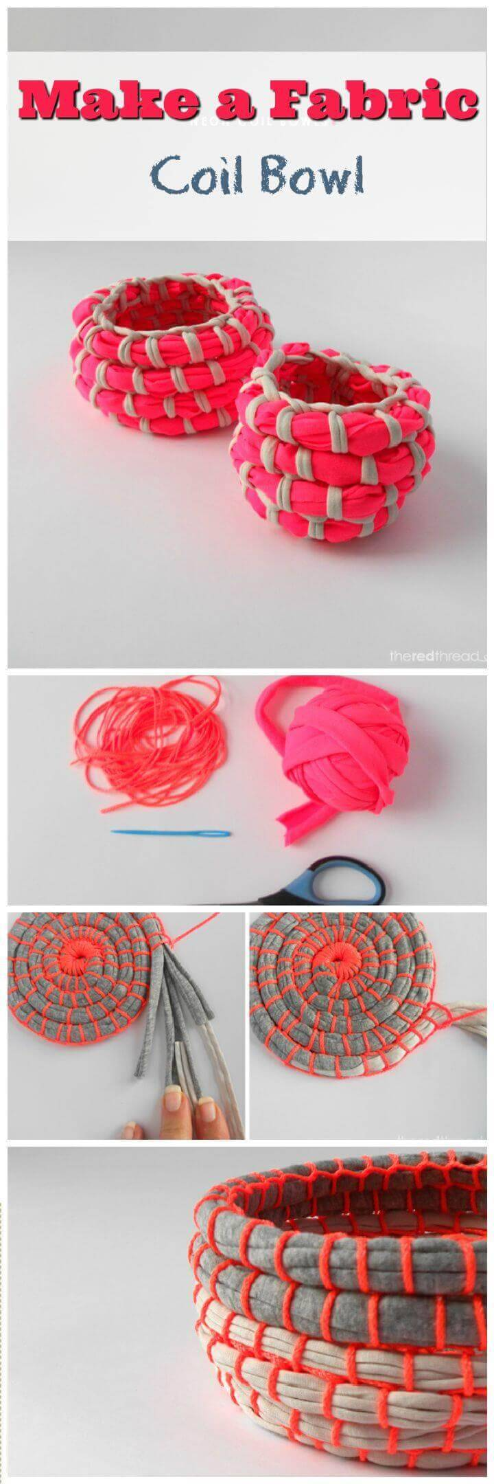 Make a Fabric Coil Bowl